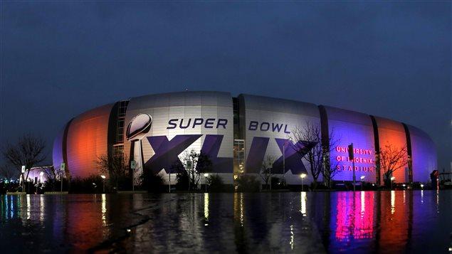 Le stade de l'Université de Phoenix pour le Super Bowl 2015