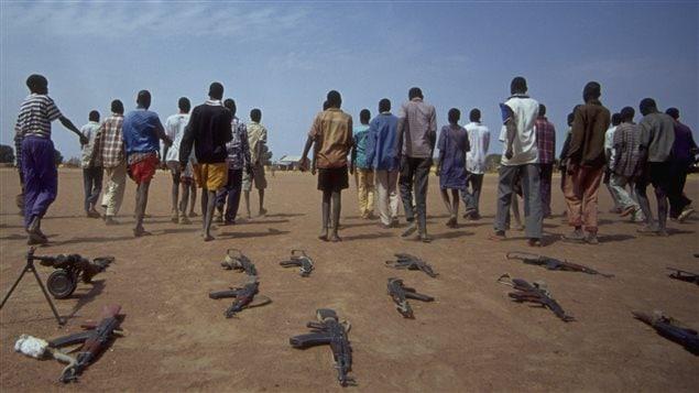 Desmovilización de niños soldados en Sudán. UNICEF y sus aliados lograron liberar a 3.000 niños soldados que estaban en manos de grupos armados.