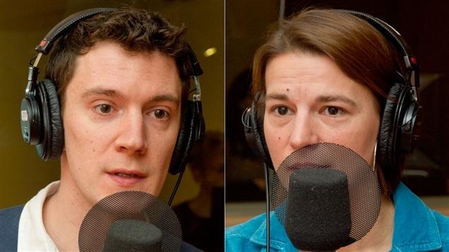 Le journaliste Florent Daudens et l'ancienne vérificatrice de faits Ariane Jacob