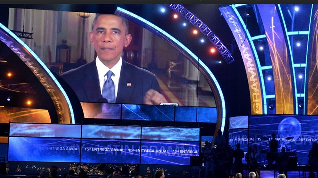 Le message de Barack Obama pendant la c�r�monie des prix Grammy