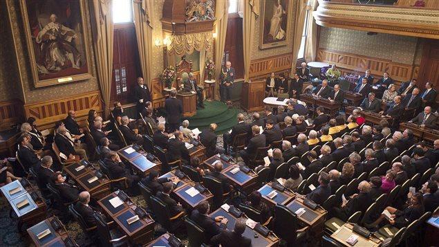رئيس وزراء مقاطعة نيوبرنسويك برايان غالانت يتحدّث في الجمعيّة التشريعيّة في 7 تشرين الأول اكتوبر 2014