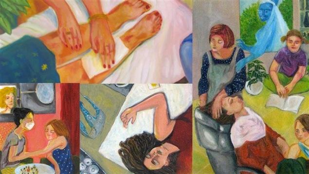 Un aperçu du travail de la peintre Naghmeh Sharifi
