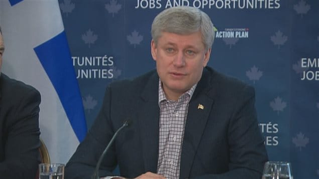 Le premier ministre Stephen Harper