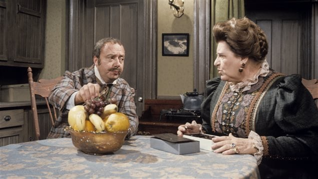 «Les belles histoires des pays d'en haut» avec Todore Desbouchons (René Caron) et Georgiana Bouchonneau (Réjane Desrameaux) en 1967.