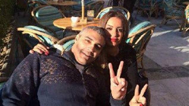 Photo publée sur le compte Twitter de Mohamed Fahmy après sa libération.