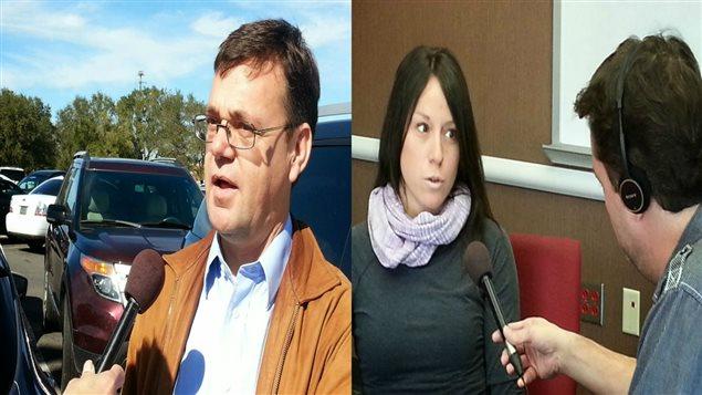 Mario Charest, Mélanie Arseneau et Eric Perron