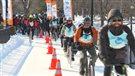 Des centaines de cyclistes participent audéfi «Vélo sous zéro»