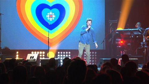 Spectacle en appui à Radio-Canada le week-end dernier au Québec.