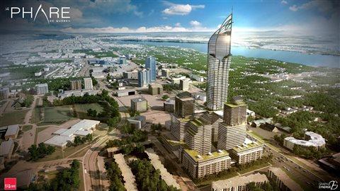 Le gratte-ciel aurait 65 étages
