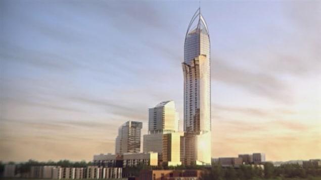 Un « phare » de 65 étages, trois tours de 25 à 30 étages, une tour d'observation et une place publique