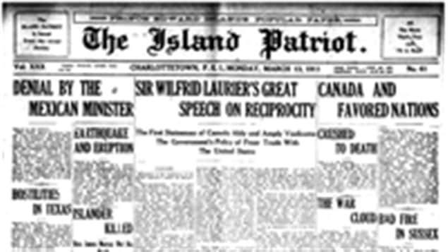 """""""ذي باتريوت الصادرة في مقاطعة جزيرة البرنس ادوارد"""