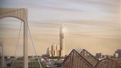Le projet « phare » serait situé à la tête des ponts de la ville de Québec.