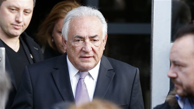 Dominique Strauss-Kahn se rendant à son procès à Lille.