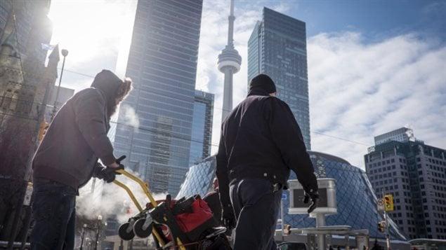Froid à Toronto
