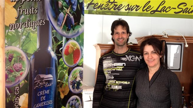 Éric Perreault et Lyna Bouchard de la ferme l'Orée des bois