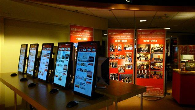 Exposición de Radio Canadá Internacional para festejar su septuagésimo aniversario.