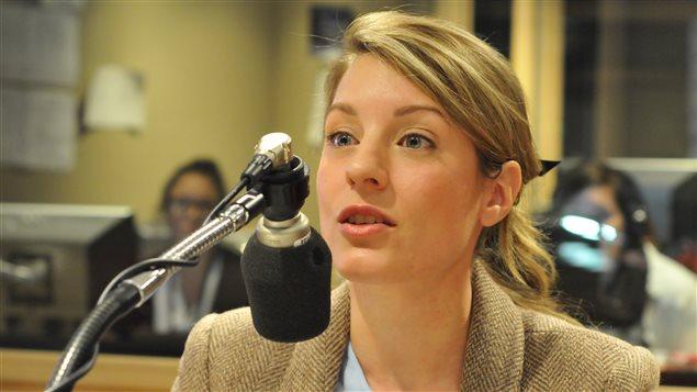 Mélanie Joly, au micro de Marie-France Bazzo après l'annonce de sa relance en politique