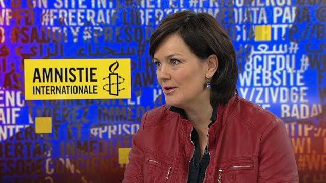 Béatrice Vaugrante, directora general de Amnistía Internacional Canadá, sección en francés.