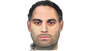 La SQ a diffusé ce portrait-robot du suspect de la tentative d'enlèvement à Ste-Brigitte-de-Laval.