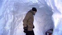 Un tunnel dans la neige à l'Île-du-Prince-Édouard fait sensation