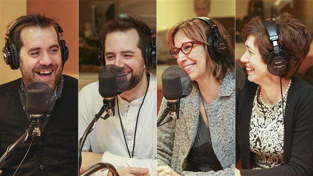 Jean-Sébastien Girard, Étienne Dupuis, Danielle Proulx et Marie-Christine Trottier