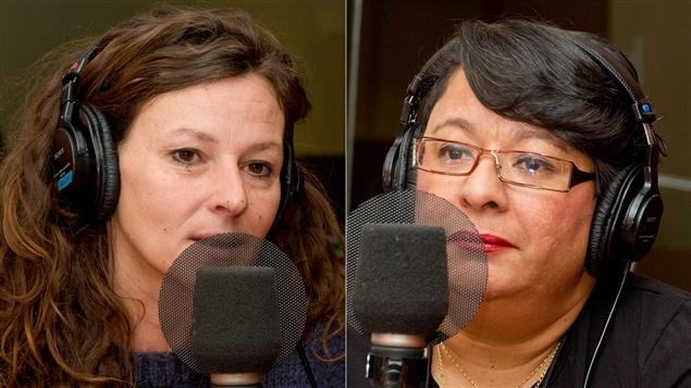 L'auteure Marie Laroque et la journaliste Nancy Roc