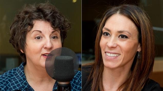 L'humoriste et femme d'affaires Marie-Lise Pilote et l'entrepreneure Nelly Furtado