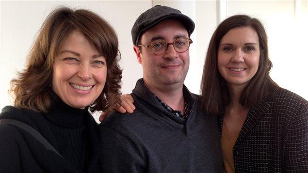 Isabelle Quinn, René Lemire et Sarah Hoodspith-Carone