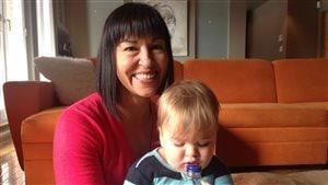Chantal Petitclerc et son fils, Elliot