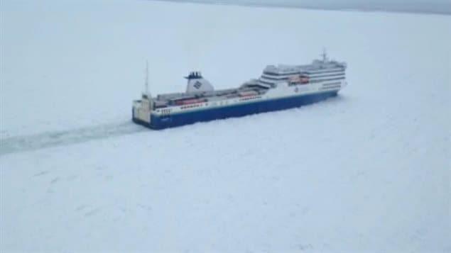 Dur hiver pour les traversiers dans le golfe du Saint-Laurent