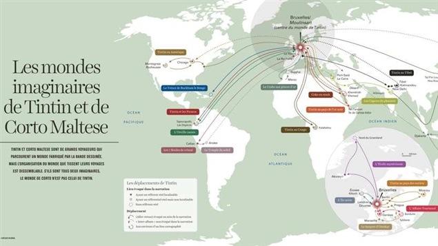 Une des cartes de l'<i>Atlas global</i>
