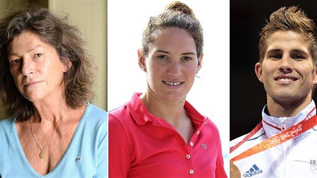 Florence Arthaud, Camille Muffat et Alexis Vastine