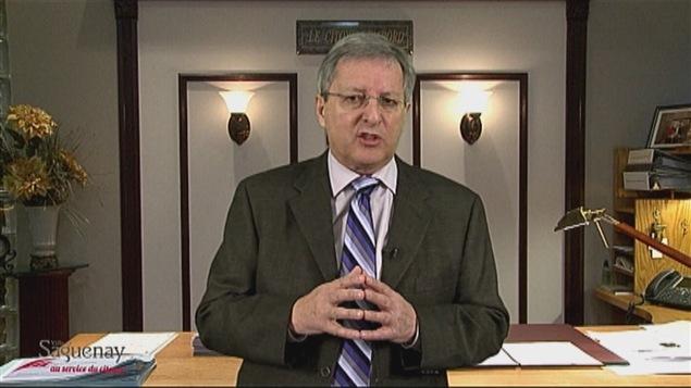 Le maire de Saguenay, Jean Tremblay, dans sa vidéo <i>Appel à solidarité</i>