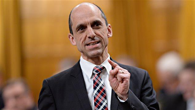 Le ministre de la Sécurité publique du Canada, Steven Blaney