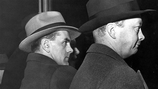 Maurice Richard lors de l'émeute du Forum de 1955