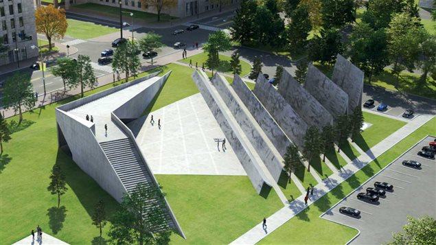 Projet de monument dédié aux victimes du communisme.