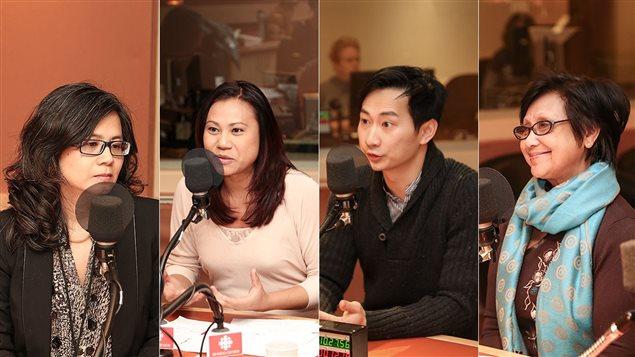De gauche à droite : Nolsina Yim, Chan Tep, Paul Tom et Geneviève Channarét Srey