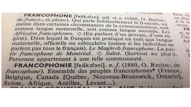 Définition Francophone