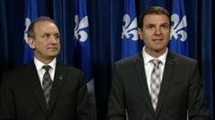 Les députés caquistes Claude Surprenant et François Bonnardel