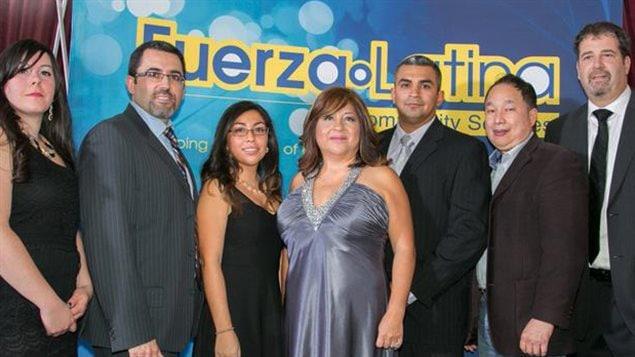 Consejo de Administración de Fuerza Latina. De izquierda a derecha :  Rosaria Bondi, Bruno Braga, Stephanie Mancia, Gina Balseca-Aguirre, Johnny Campuzano, Garland Chang and Mark Giancola