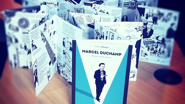 La bande dessinée <i>Marcel Duchamp : un petit jeu entre moi et je</i> dépliée