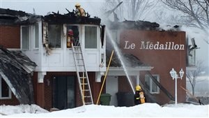 Le feu a pris naissance dans un logement au deuxième étage.