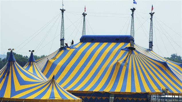 Le chapiteau de cirque