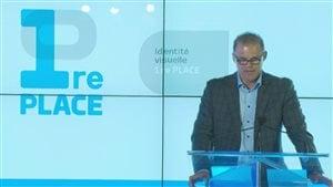 Annonce du programme Première Place par Benoît Robert, chef de la direction de Groupe Sports et divertissement de Québecor Média