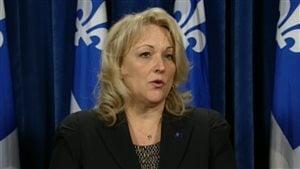 La ministre de la Sécurité publique du Québec, Lise Thériault.