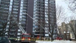 L'incendie a pris naissance au 12 étage de l'immeuble.