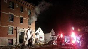 Un incendie a forcé l'évacutation d'un immeuble de la rue Young.
