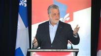 Couillard défend son budget devant des militants libéraux
