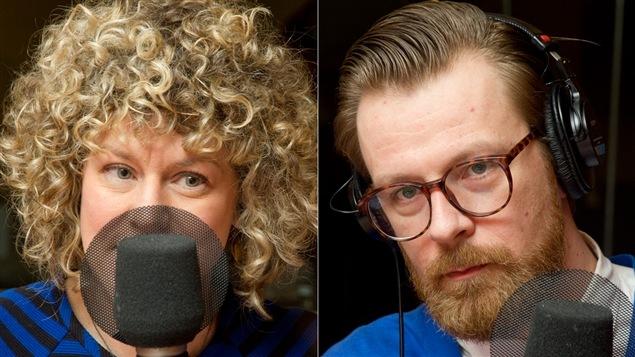 Les chroniqueurs Diane Bérard et Jean-Pierre Desnoyers