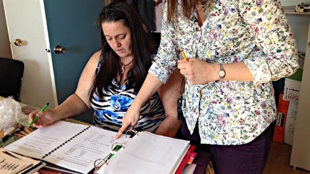 Sylvie Fournier, une participante au cours d'alphabétisation